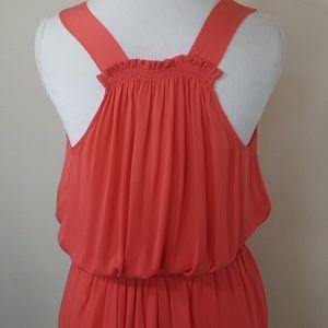 Joie Dresses - Joie Coral NWT 100% Silk summer dress, greek style